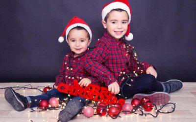 Ideas para hacer fotos de Navidad a niños